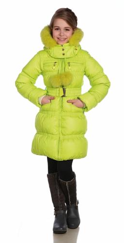 11 Пальто пуховое для девочки  (на лебяжьем пуху),  Floral Print 1Atlantic.PNG